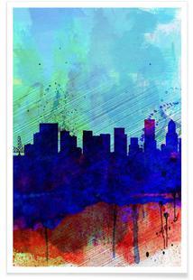 Portland Watercolor Skyline