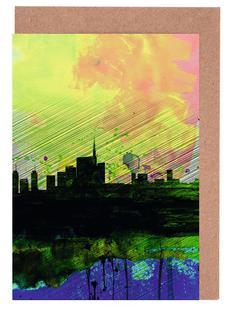 Milan Watercolor Skyline 2