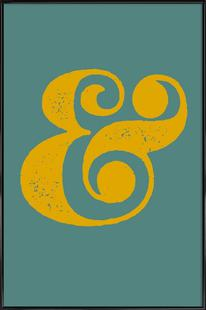 Ampersand Poster Blue and Yellow