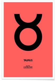Taurus Zodiac Sign Black