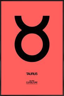 Taurus Zodiac Sign Black