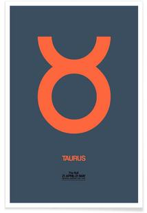 Taurus Zodiac Sign Orange