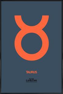 Taurus Zodiac Sign Orange