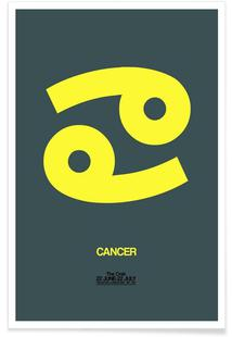 Cancer Zodiac Sign Yellow