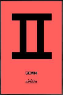 Gemini Zodiac Sign Black