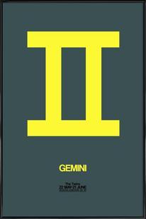Gemini Zodiac Sign Yellow