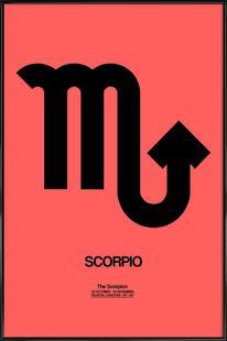 Scorpio Zodiac Sign Black