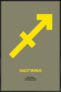 Sagittarius Zodiac Sign Yellow