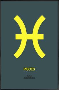 Pisces Zodiac Sign Yellow