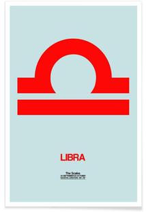 Libra Zodiac Sign Red