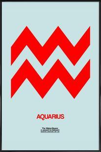 Aquarius Zodiac Sign Red
