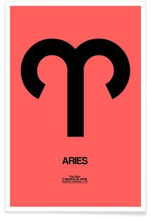 Aries Zodiac Sign Black
