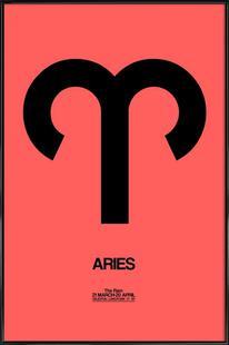 Aries Zodiac Sign Black