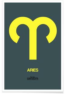 Aries Zodiac Sign Yellow