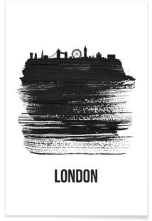 London Skyline Brush Stroke