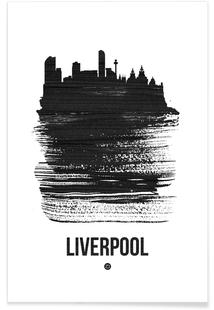 Liverpool Skyline Brush Stroke