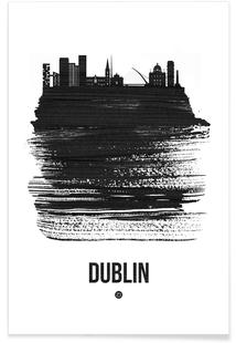 Dublin Skyline Brush Stroke