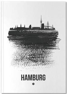 Hamburg Skyline Brush Stroke
