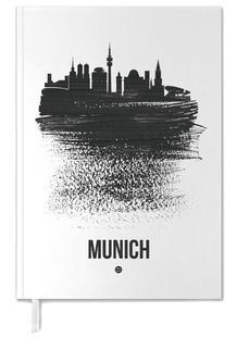 Munich Skyline Brush Stroke
