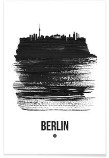 Berlin Skyline Brush Stroke