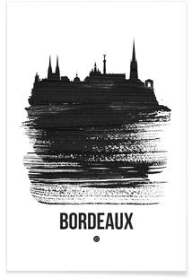 Bordeaux Skyline Brush Stroke