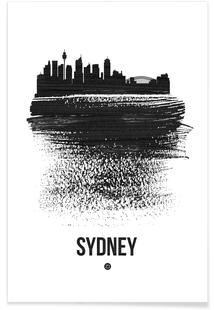 Sydney Skyline Brush Stroke