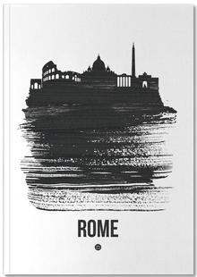 Rome Skyline Brush Stroke