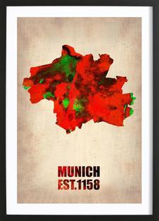 Munich Watercolor Map