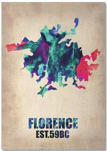 Florence Watercolor Map