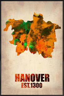 Hanover Watercolor Map