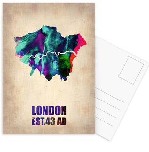 London Watercolor Map