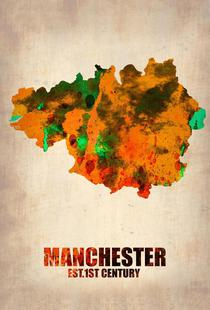 Manchester Watercolor Map