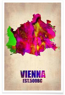 Vienna Watercolor Map