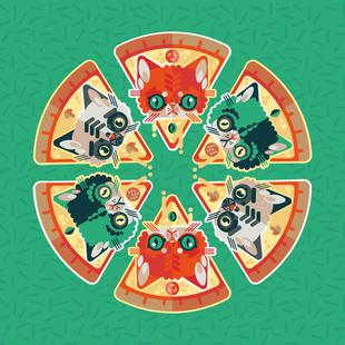 Pizza Slice Cats