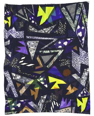 Geometric Moonlight Fleece Blanket