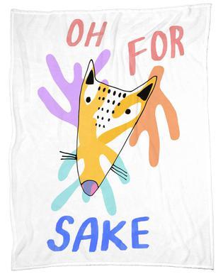 Oh for Fox Sake Fleece Blanket
