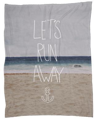 Let's Run Away - to the sea Fleece Blanket
