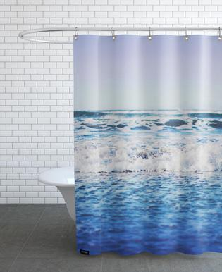 Indigo Waves Shower Curtain