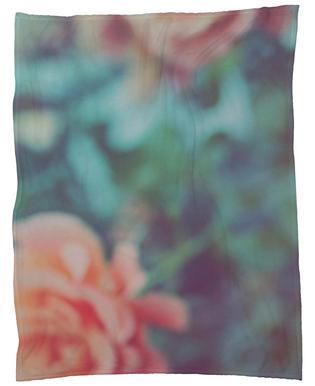 Faded Floral Fleece Blanket
