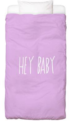 Hey Baby Pink Bed Linen