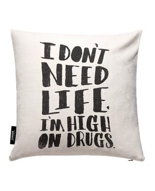 High On Drugs Cushion Cover