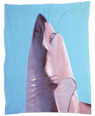 Attack! Blue Fleece Blanket