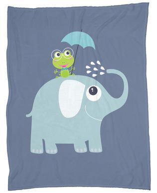 Elephant Frog Fleece Blanket