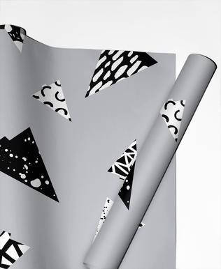Christmas Trees Black & White cadeaupapier