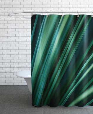 Green Straws 2 Shower Curtain