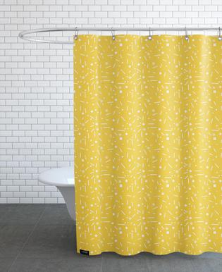 Abstrakt Gelb Shower Curtain