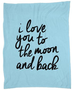 I Love You to the Moon and Back plaid