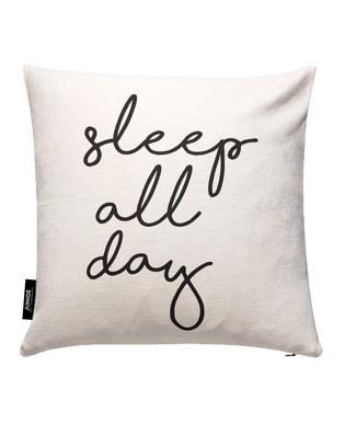 Sleep All Day Housse de coussin