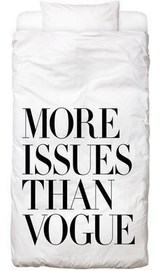 More Issues Than Vogue White Dekbedovertrekset