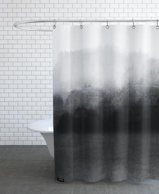 Greyscale Landscape -Duschvorhang